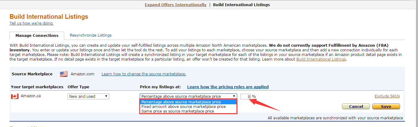 Build International Listings